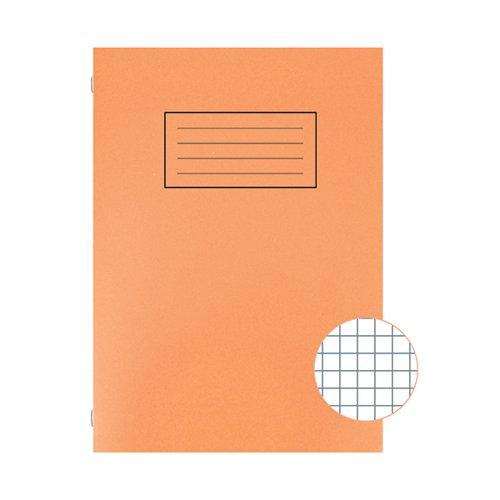 Silvine Exercise Book 5mm Squares A4 Orange (Pack of 10) EX113