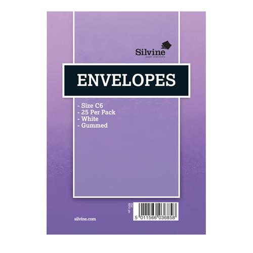 Silvine Medium Envelopes 25 (Pack of 10) 302