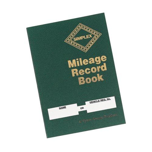 Simplex Mileage Record Book Hardback MRB