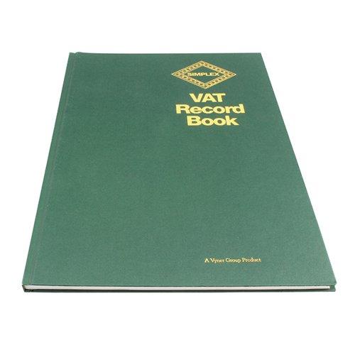Simplex Hardback VAT Records Book - OEM: VAT