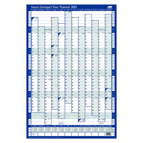 Sasco Unmounted Compact Year Planner Portrait 2021 BX10