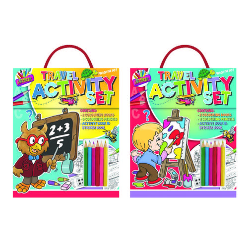 Artbox Childrens Travel Activity Set (Pack of 6) 6893