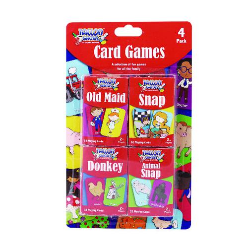 Tallon Set of 4 Card Games For Children (Pack of 12) 7023