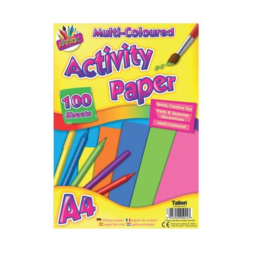 Art Box Activity Paper 100 Sheet A4 Assorted (Pack of 6) TAL05044