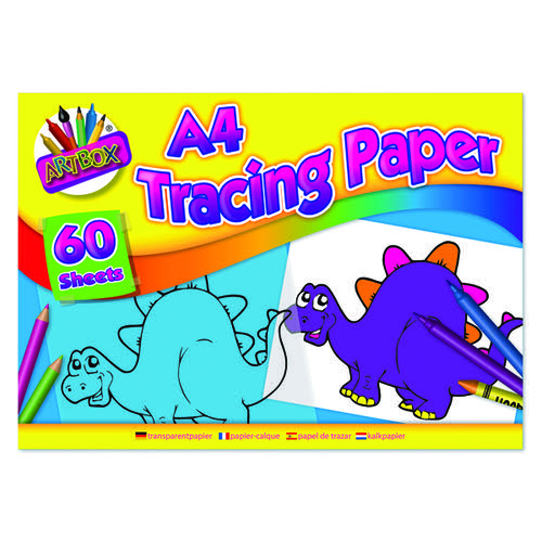 Art Box Tracing Paper Pad A4 60 Sheets (Pack of 12) TAL05069
