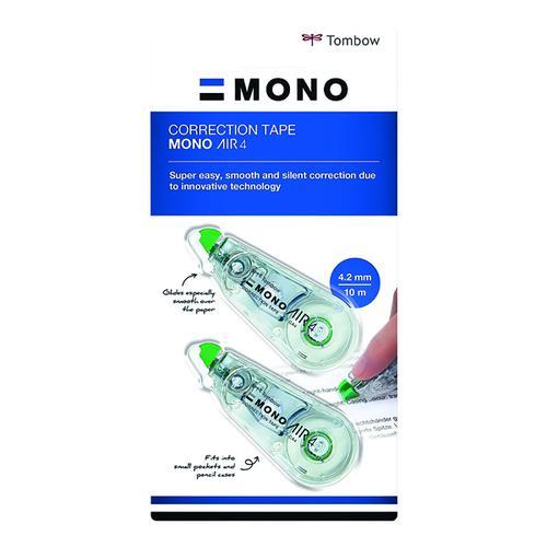 Tombow Mono Air Correction Tape 4.mm x 10m PK2+1 free