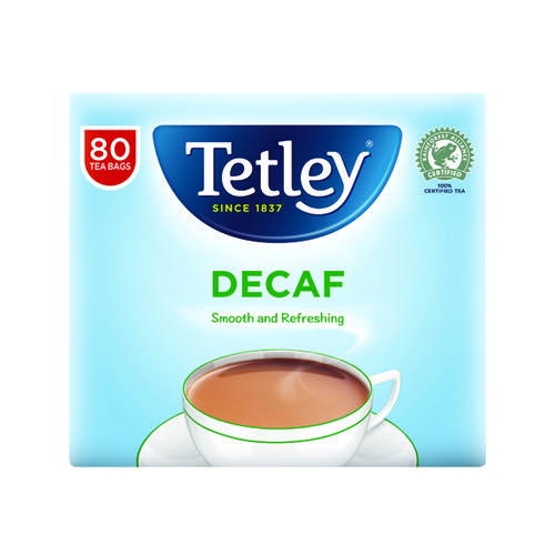 Tetley Decaffeinated Tea Bag Pk80