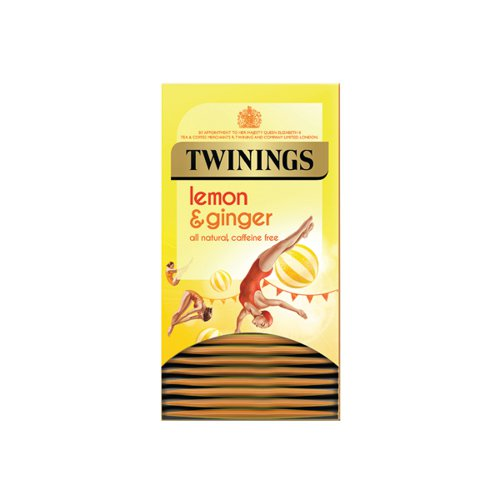 Twinings Lemon & Ginger Fruit Infusion Tea Bags (Pack of 20) F09613