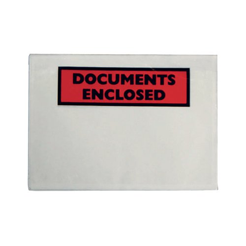 Document Envelopes Documents Enclosed Self Adhesive A6 (Pack of 100) 9743DEE02