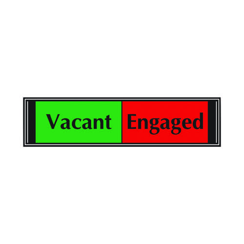 Sliding Sign Vacant/Engaged Self Adhesive (High quality PVC wtth sliding mechanism) V6DB/VE