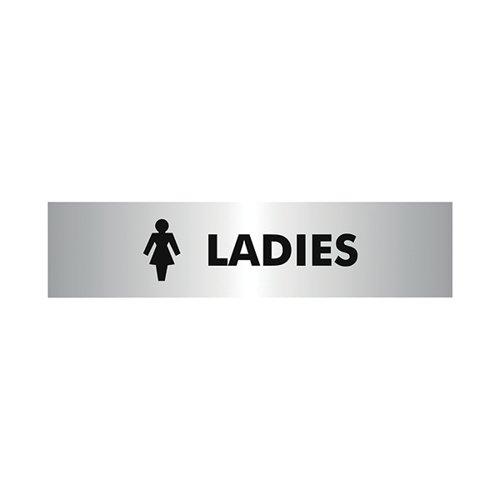Acrylic Sign Ladies Aluminium 190x45mm SR22357
