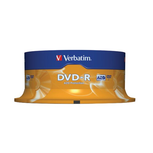 Image for Verbatim DVD-R Colour Slim Case 4.7GB (Pack of 25) 43522