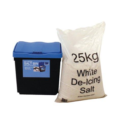 30 Litre Grit Bin and 25kg Salt Kit 389113