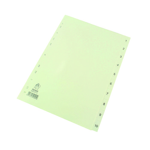 A4 White 1-10 Polypropylene Index WX01353
