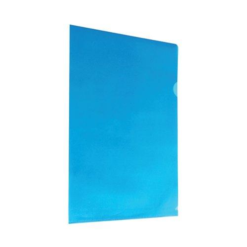 Blue Cut Flush Folders (Pack of 100) WX01486