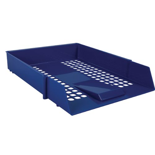 Blue Plastic Letter Tray (Pack of 12) WX10050