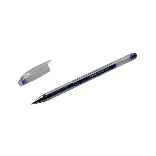Blue Gel Pens Pack of 10 (Transparent barrel) WX21717