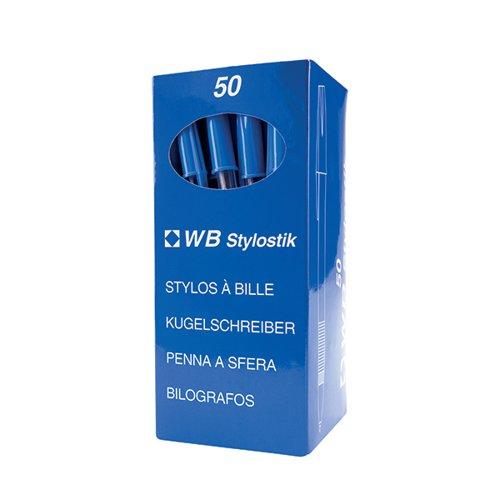 Blue Medium Ballpoint Pens (Pack of 50) 893623