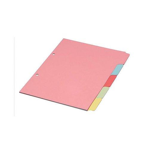 Multicoloured A4 5 Part Divider WX26081