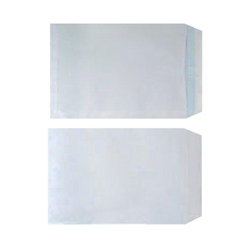 Plain White C4 Envelopes Self Seal 90gsm White (Pack of 250) WX3499