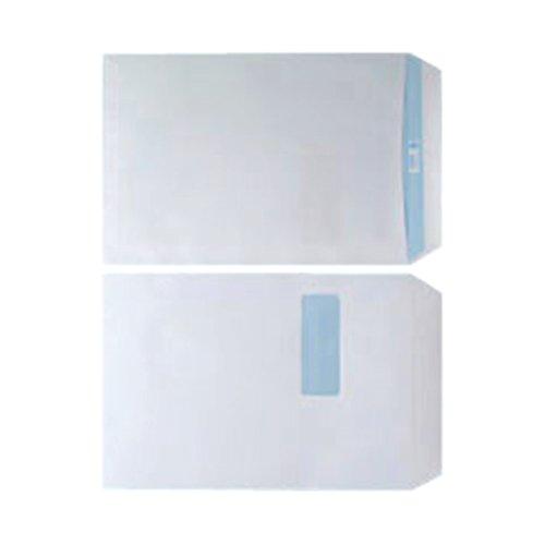 Envelope C4 Window 90gsm White Self Seal (Pack of 250) WX3501