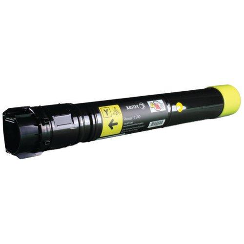 Xerox Phaser 7500 Yellow Toner Cartridge 106R01435