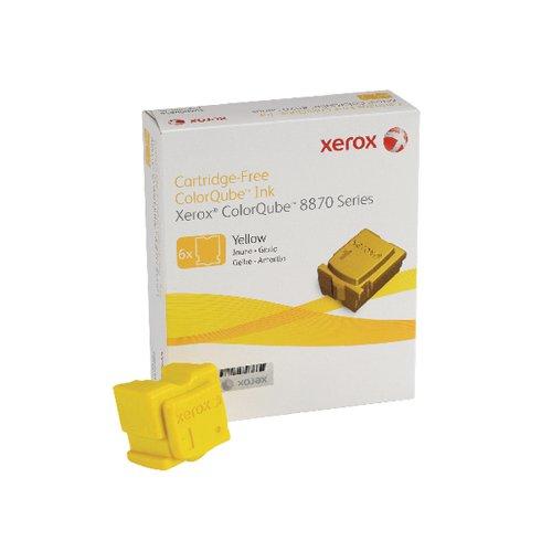 Xerox ColorQube 8870 Yellow Ink Stick 17K (Pack of 6) 108R00956