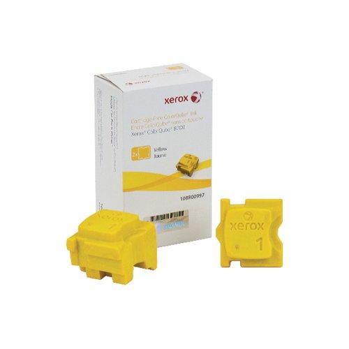 Xerox ColorQube 8700 Yellow Ink Stick (Pack of 2) 108R00997
