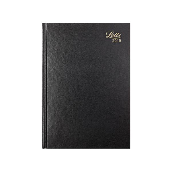Letts 11Z A4 Day/Page Diary Black 2019 19-T11ZBK