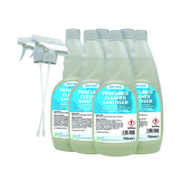 2Work Perfumed Spray Wipe Sanitiser 750ml (Pack of 6) 211SVW