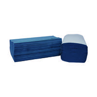 2Work 1-Ply I-Fold Hand Towels Blue (Pack of 3600) 2W70104