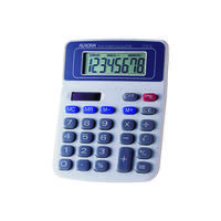 Aurora White/Blue 8-Digit Semi-Desk Calculator DT210