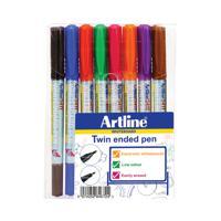 Artline 2-in-1 Whiteboard Marker Fine/Superfine Assorted (Pack of 8) EK-541T-WB