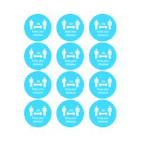 Avery Social Distancing Badges (Pack of 48) COVNAM51C