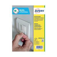Avery Permanent Assorted Square Antimicrobial Film Labels (Pack of 680) AM00SA4