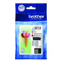 Brother LC3213 4 Colour Ink Cartridge Multipack LC32123VAL