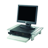 Fellowes Office Suites Standard Monitor Riser Black/Silver 8031101