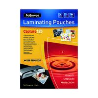 Fellowes Laminating Pouch A4 250micron Pk 100 Capture 5307401