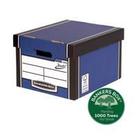 Fellowes Bankers Box Premium Presto Classic Storage Box Blue 7250601