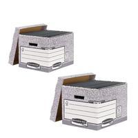 Bankers Standard Storage Box Grey (Pack of 10) BB810537 BOGOF
