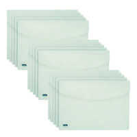Elba Snap Wallet Polypropylene A4 Clear (Pack of 5) 3 For 2 BX810445