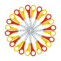 Westcott Left Handed Scissors 130mm Yellow/Orange (Pack of 12) E-21593 00