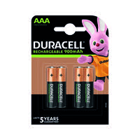 Duracell Stay Charged Entry Battery AAA 750MaH Pack of 4