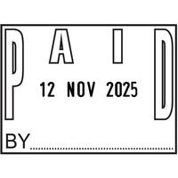 COLOP P700 Date Stamp Paid P700PAID