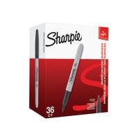 Sharpie Permanent Marker Fine Black (Pack of 36) 2025040