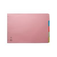 Concord Divider 5-Part A3 Landscape Pastel Colours 70399/J3