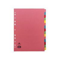 Concord Divider 15-Part A4 160gsm Multicoloured 71599/J15