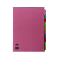 Concord Divider 10-Part A4 160gsm Multicoloured 72299/J22