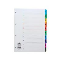Concord Index 1-10 A4 White with Multicoloured Mylar Tabs 00401/CS4