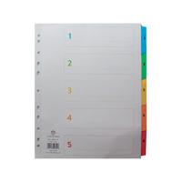 Concord Index 1-5 A4 White With Multi-Colour Tabs 09601/CS96